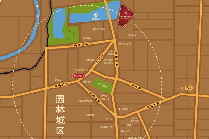 中南世纪锦城区位图